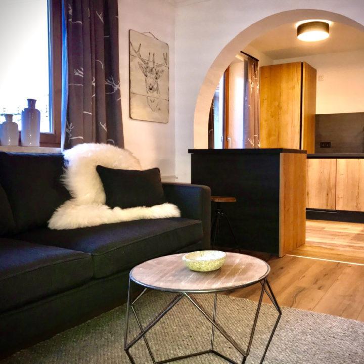 Zithoek in het appartement in Oostenrijk