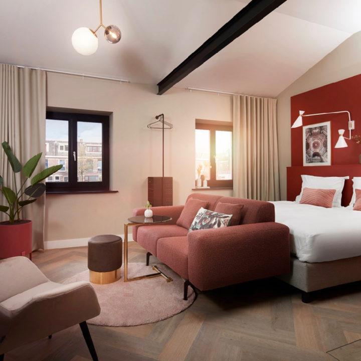 Suite met warme kleuren, aardetinten