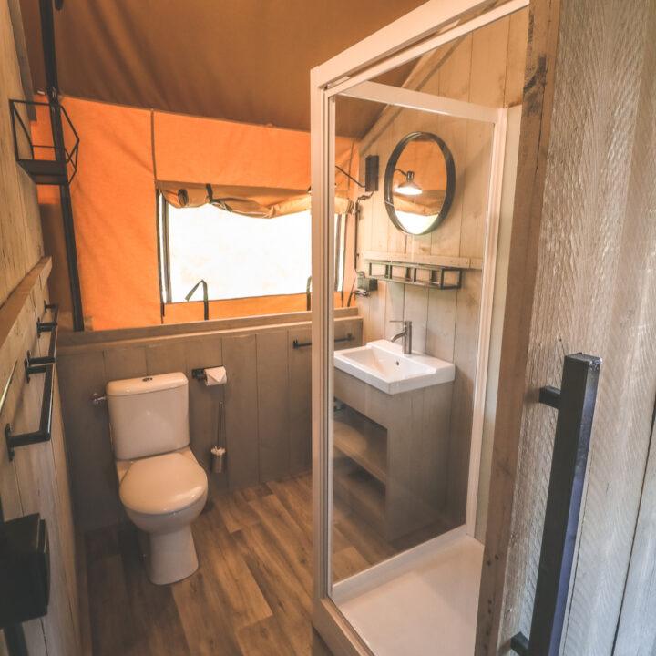 Badkamer in je eigen luxe tent