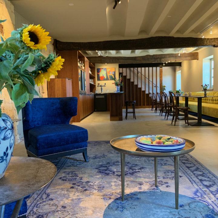 Luxe ontvangstruimte in het boutique hotel in Zuid-Limburg