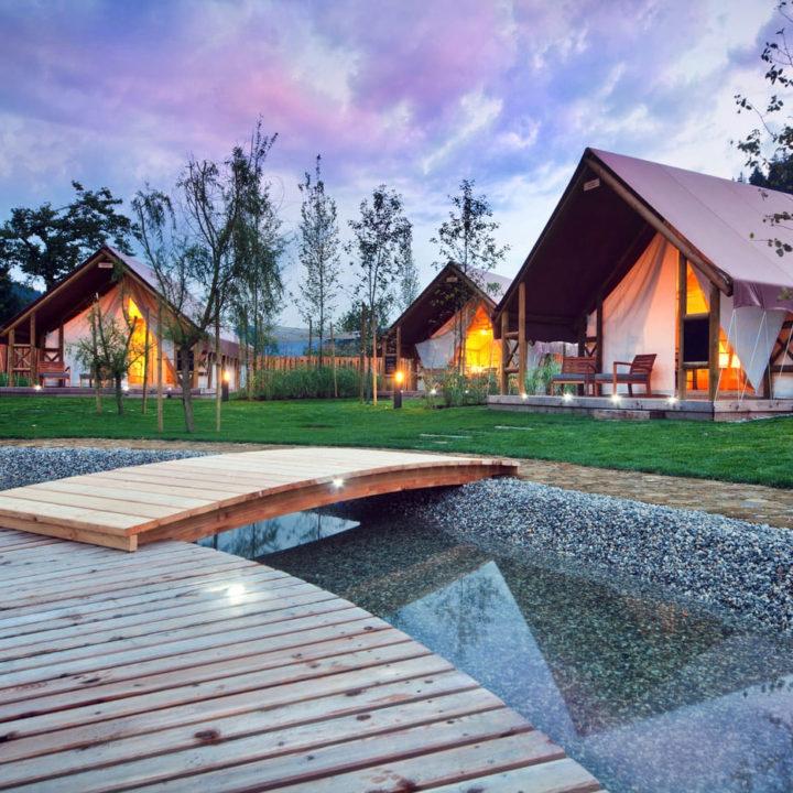 Safaritenten van luxe glamping resort