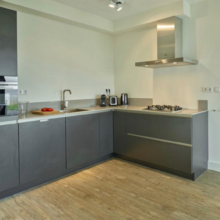 Moderne keuken in de vakantievilla