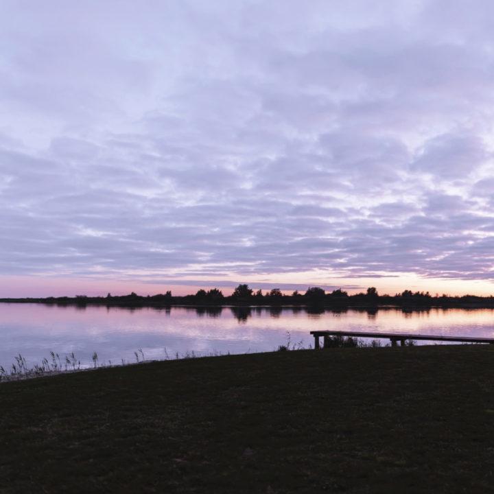 Zonsondergang aan het Lauwersmeer