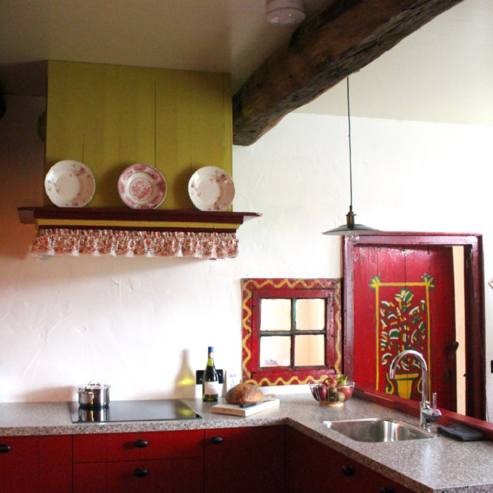 Keuken in de woonboerderij