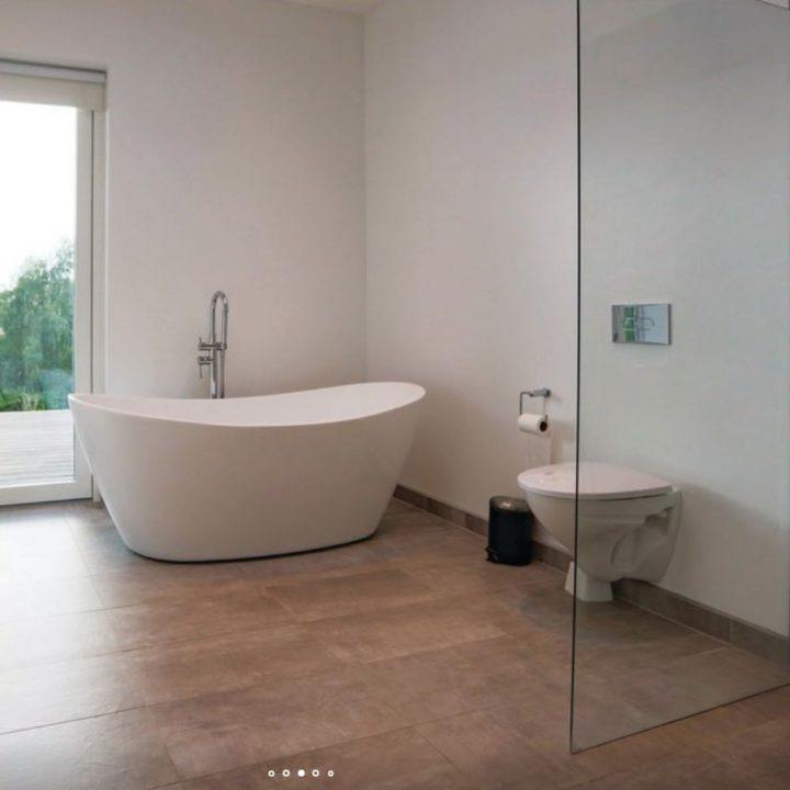 Badkamer met design bad