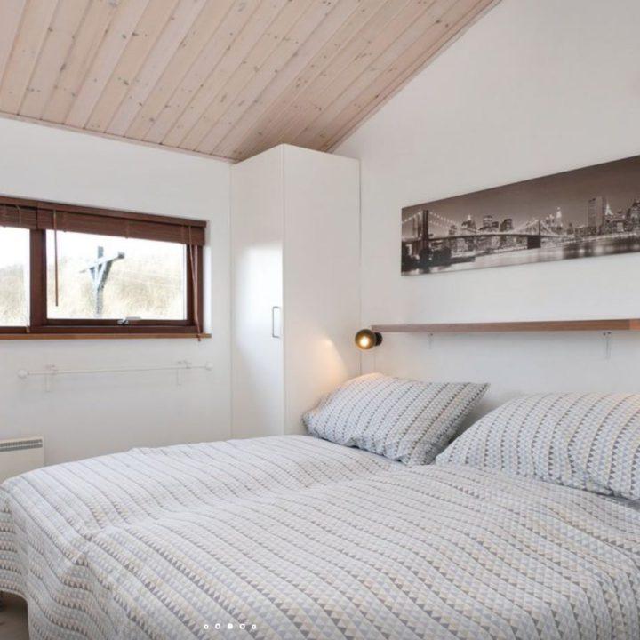 Tweepersoons slaapkamer in het vakantiehuis in Denemarken