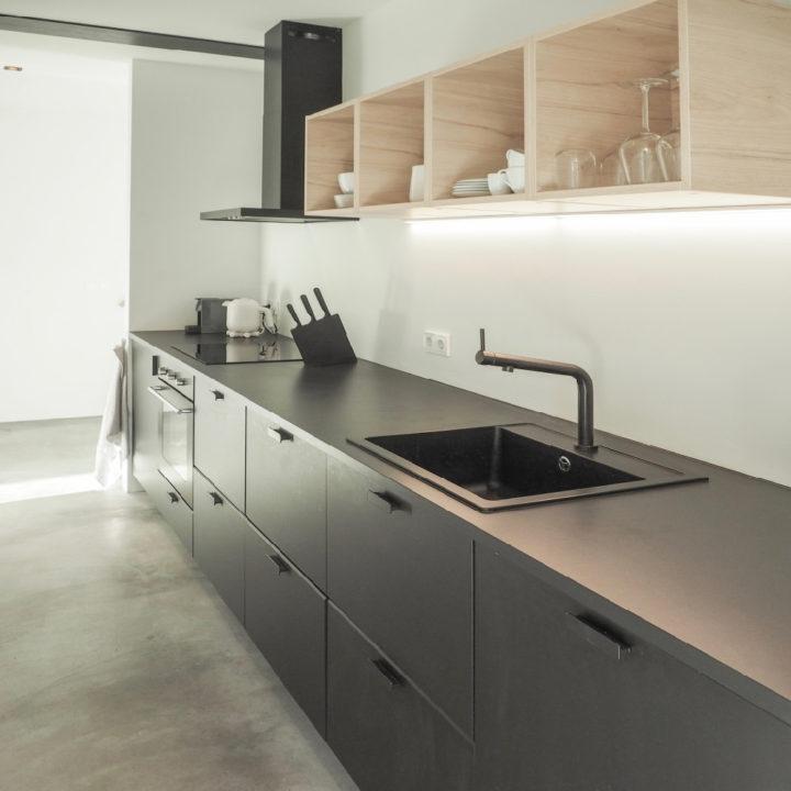 Keuken van een luxe vakantiehuis, voor een weekend of vakantie