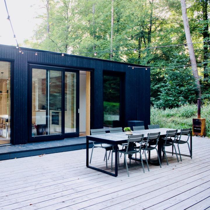 Duurzaam vakantiehuis in het bos