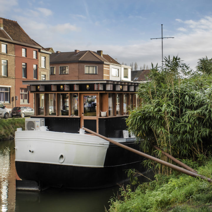 Vakantiehuis aan boord van een schip in Gent