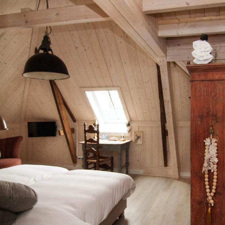Romantische hotelkamer bij Herberg in Den Ham