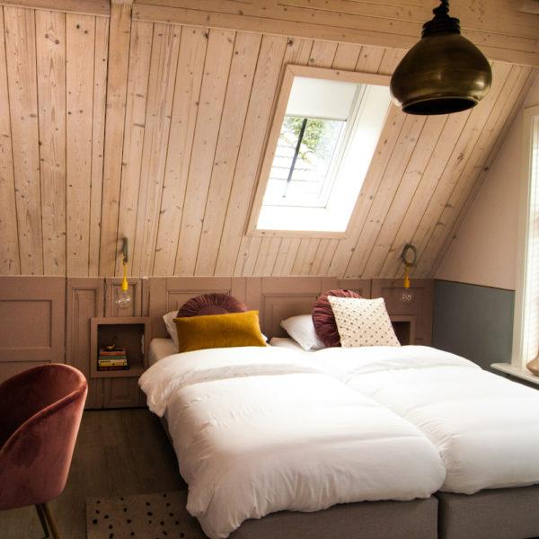 Slaapkamer tijdens een weekend weg in Den Ham