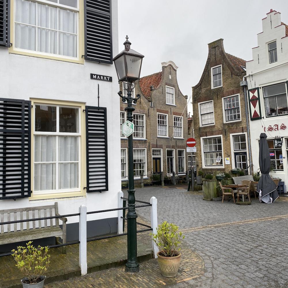 Historische gevels in Goedereede