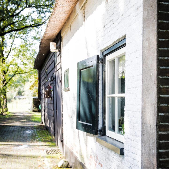 Een van de authentieke huisjes in Frederiksoord