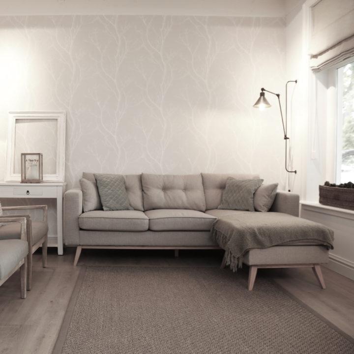 Zithoek in een appartement in Bergen