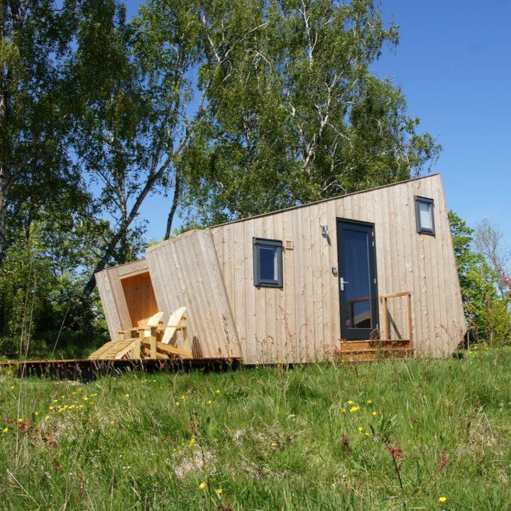 Duurzaam houten huisje in Friesland