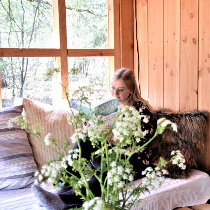 Bosje fluitenkruid in de buitenkamer