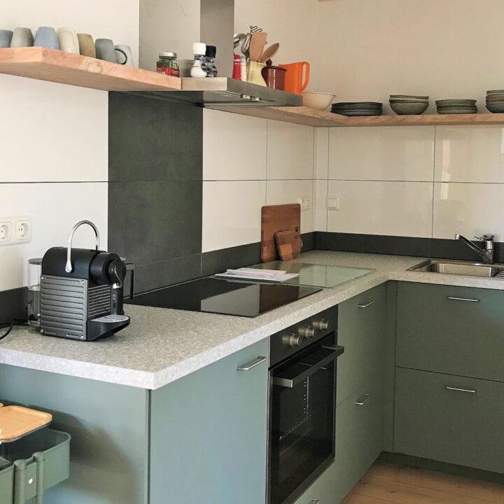 Moderne keuken in vakantieappartement Landgoed Wildenheerd