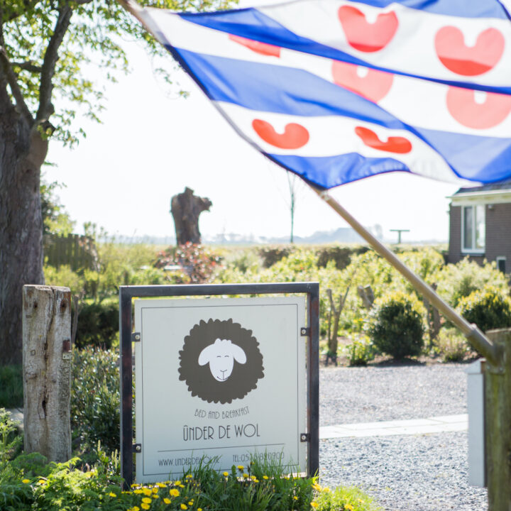 De Friese vlag wappert bij bed and breakfast Under de Wol