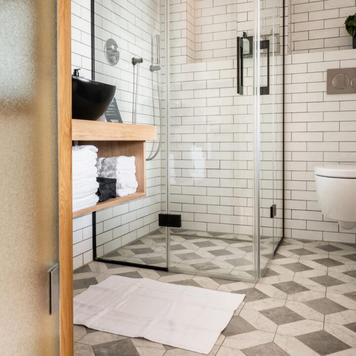 Badkamer van Hotel de Beerze in Brabant