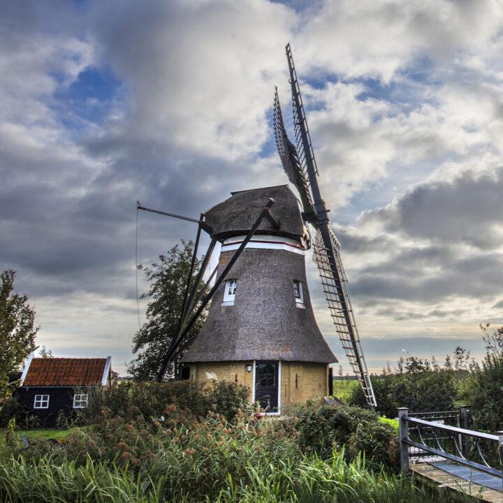 Molen in Friesland ingericht als vakantiehuis