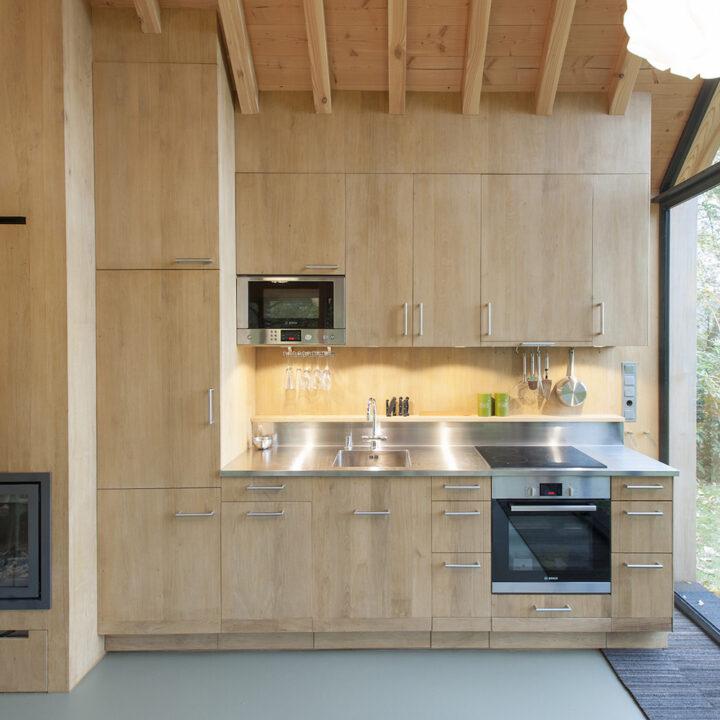 Design keuken in een dito vakantiehuis