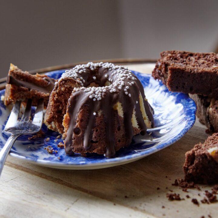 Huisgemaakte chocolade cake
