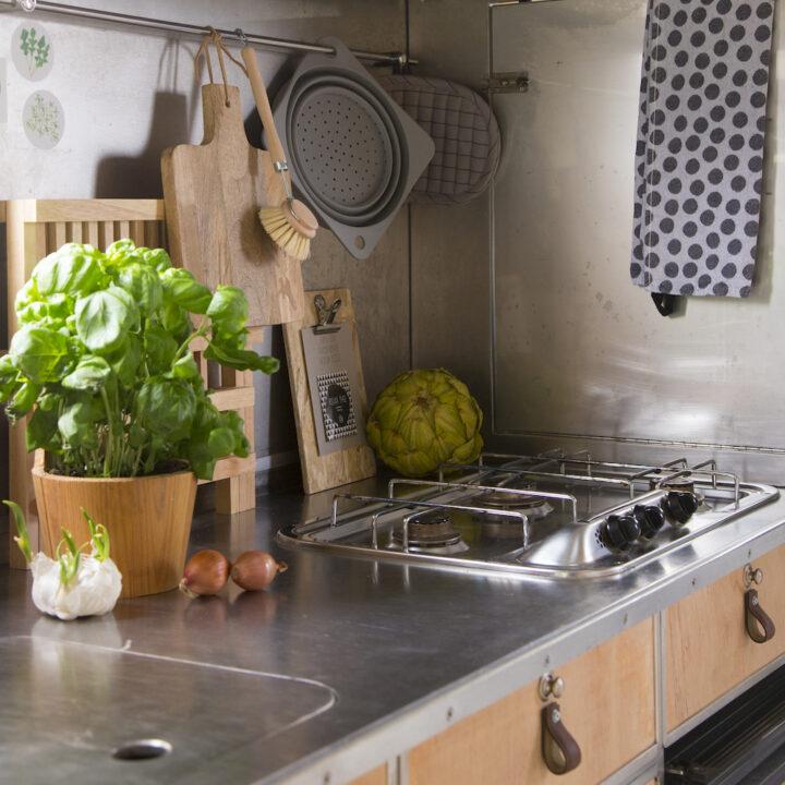 Keuken in de camper