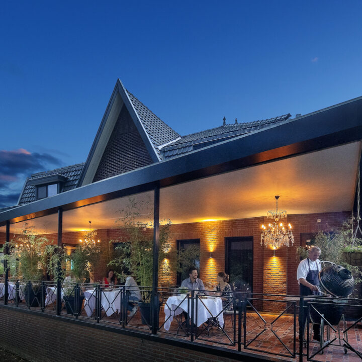 Sterrenrestaurant met overdekt terras