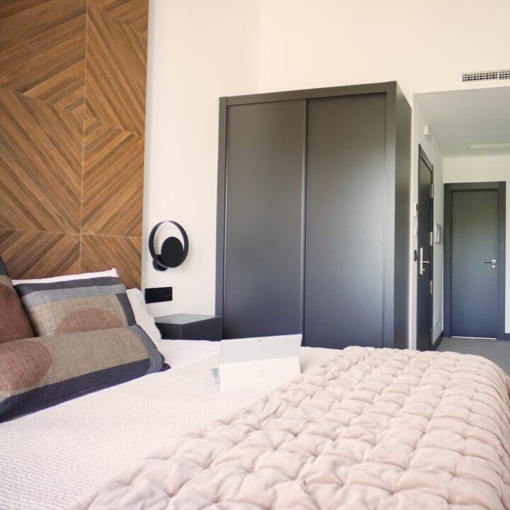 Slaapkamer in het boutique hotel in Spanje