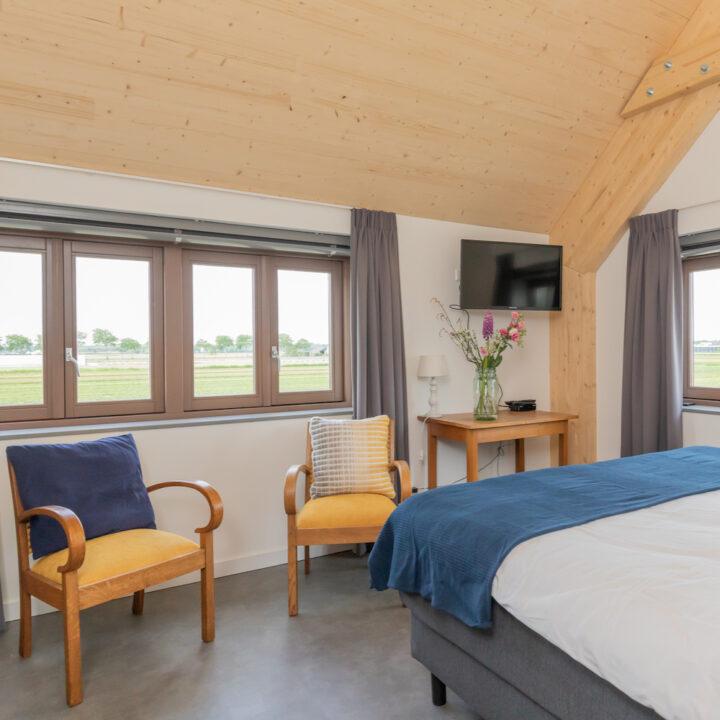 Slaapkamer in de B&B in de bollenstreek bij Hillegom