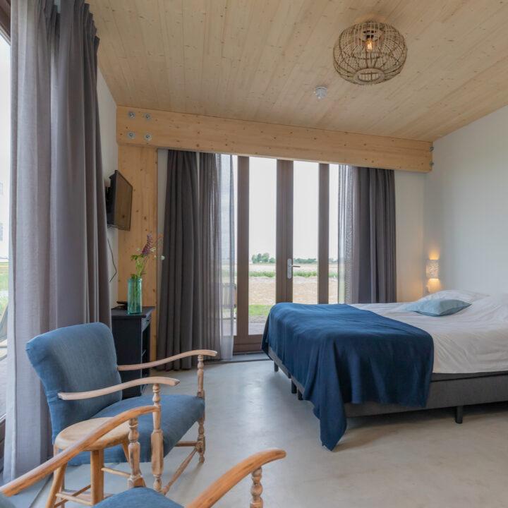 Slaapkamer in duurzame B&B