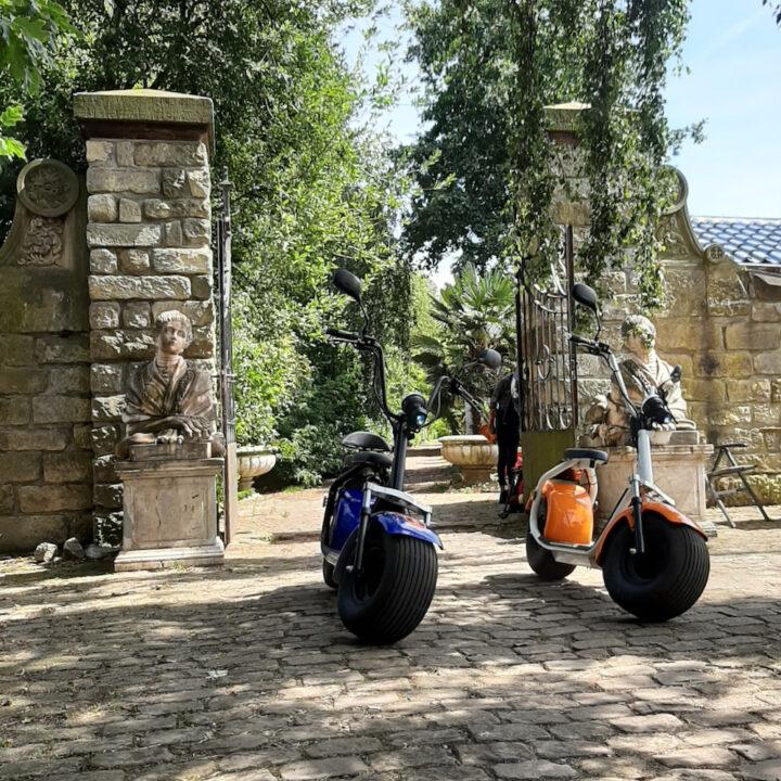 E-scooters voor een robuuste muur en poort