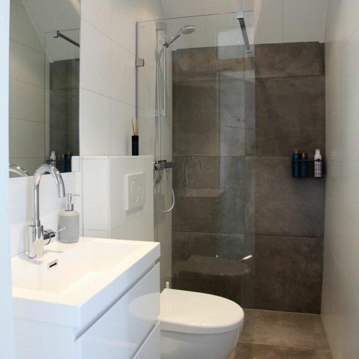 Badkamer in een huisje in de Achterhoek