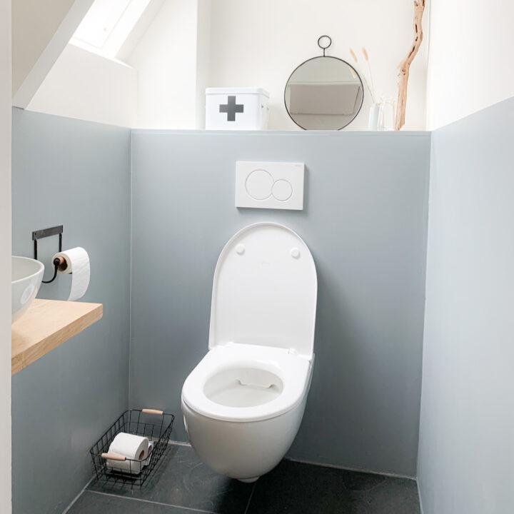Toiletruimte in het vakantiehuis in Winsum