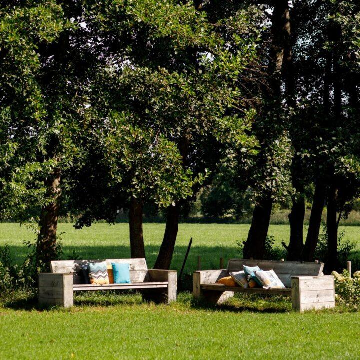Lounge banken van steiger hout