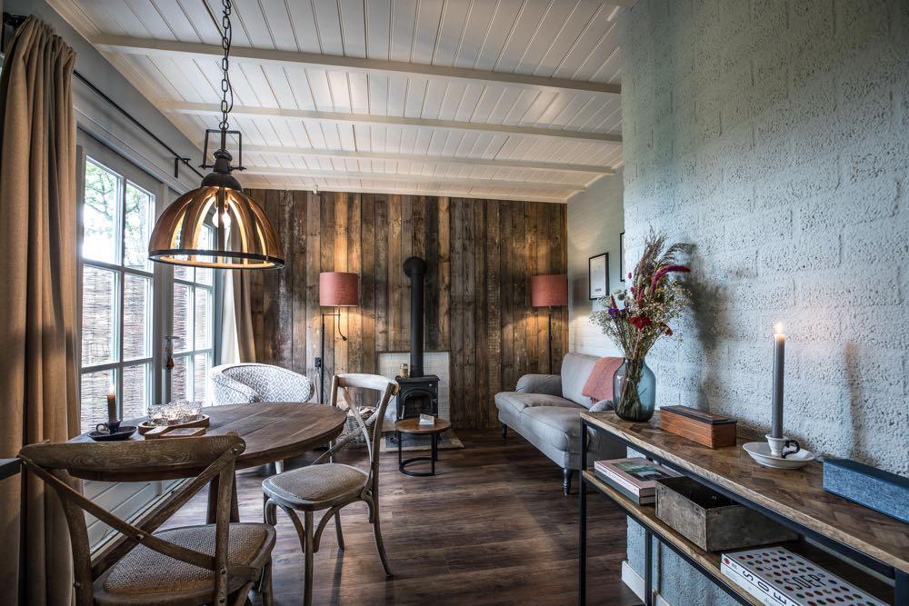 Knus houten vakantiehuis in Twente