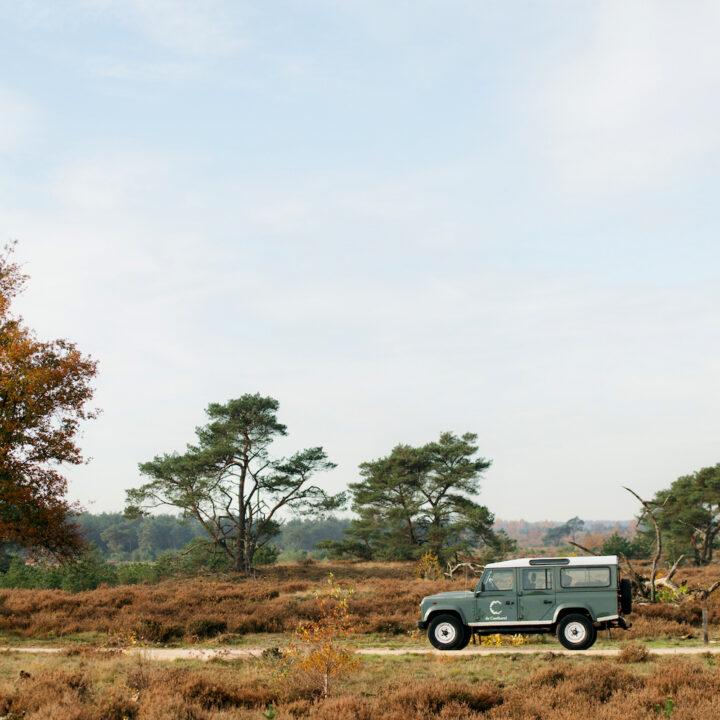 Landrover safari op de Veluwe