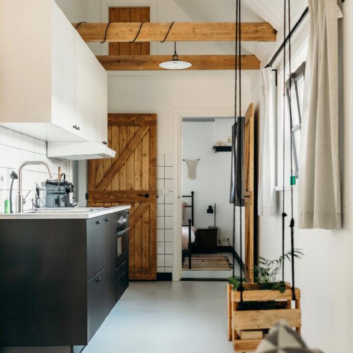 Keuken in het vakantiehuis in Helenaveen