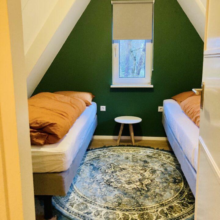 2-persoons slaapkamer in het Boshuisje bij Ommen