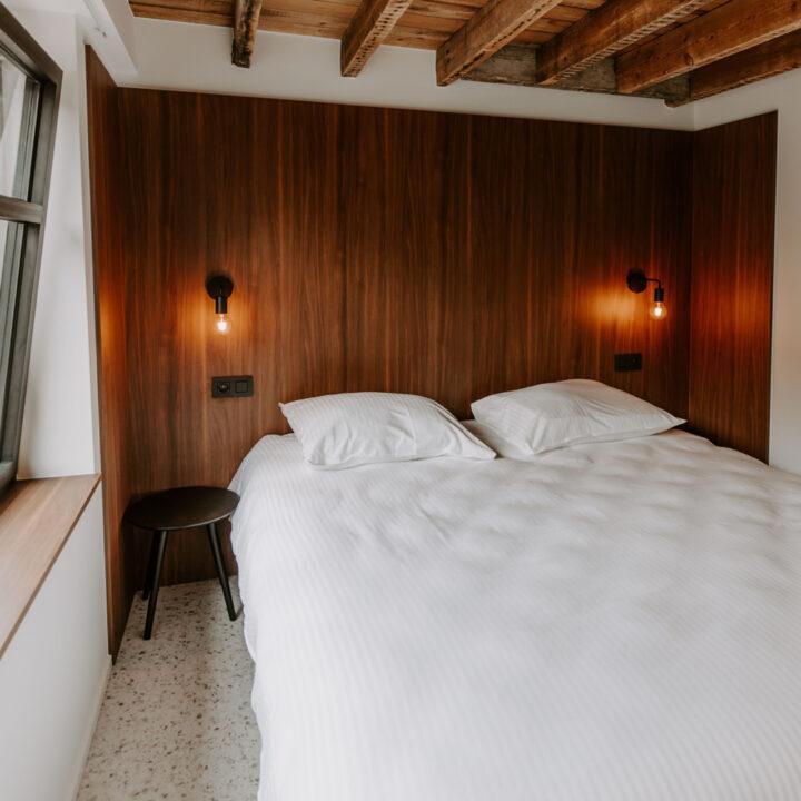 Slaapkamer voor twee personen in vakantiehuis Jolie logie