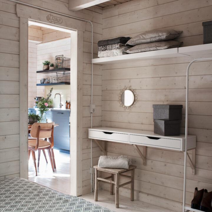 Het vakantiehuisje in Schoorl heeft twee knusse slaapkamers