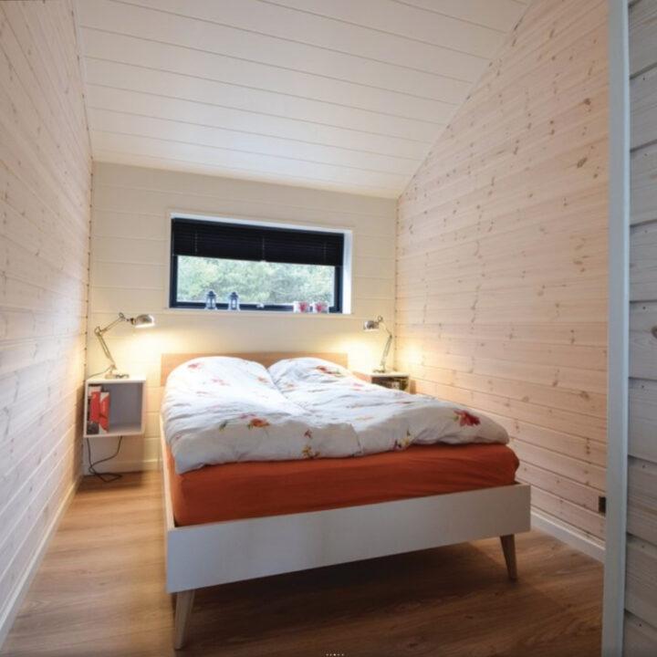 Tweepersoons slaapkamer in het vakantiehuis in Blåvand
