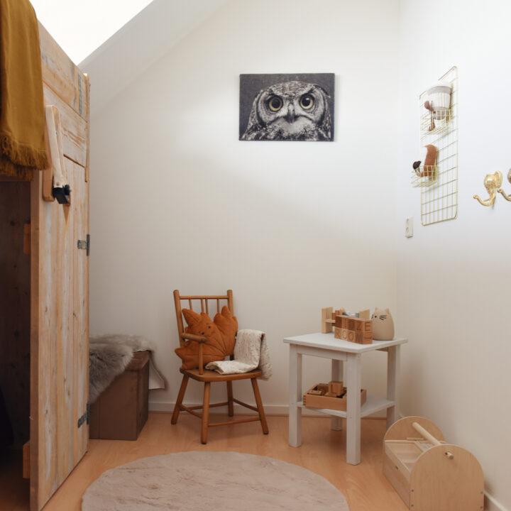 Speelhoek in een kinderkamer in het vakantiehuis