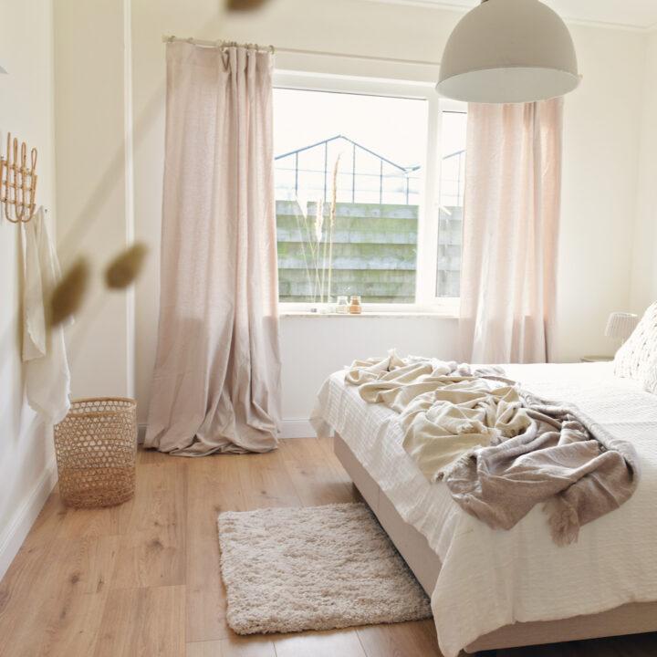 Slaapkamer met pasteltinten
