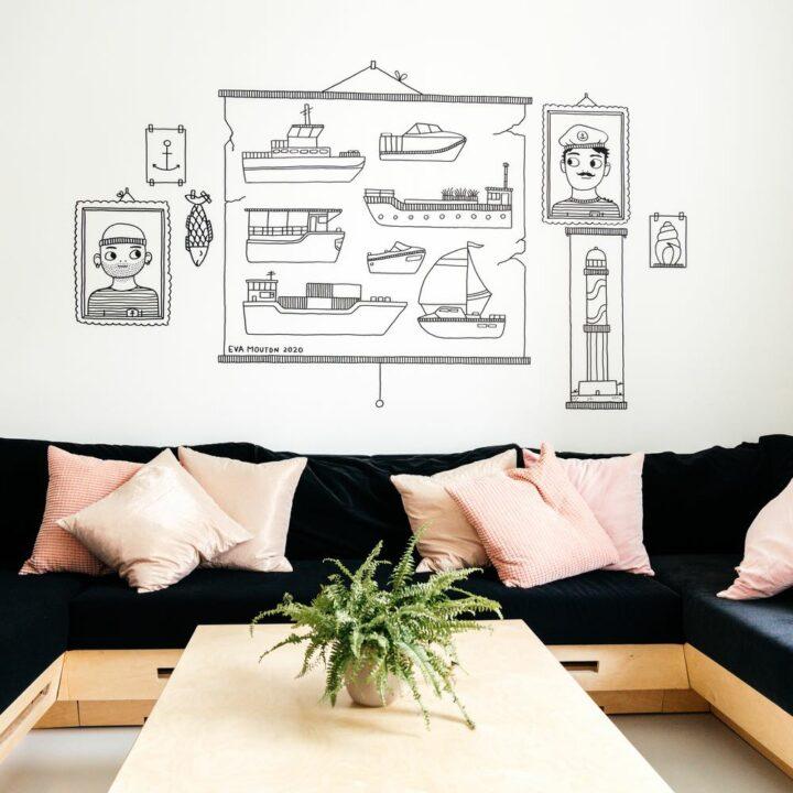 Gezellige zithoek in het 10-persoons vakantiehuis Villa Plage in Oostende